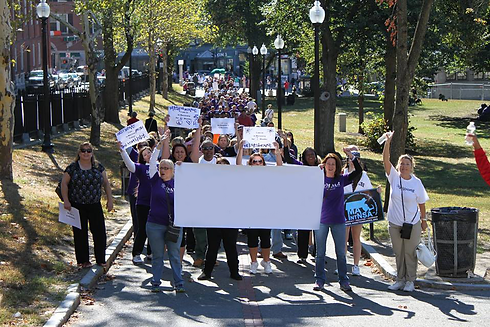 MOAR Recovery Day march through Boston Common