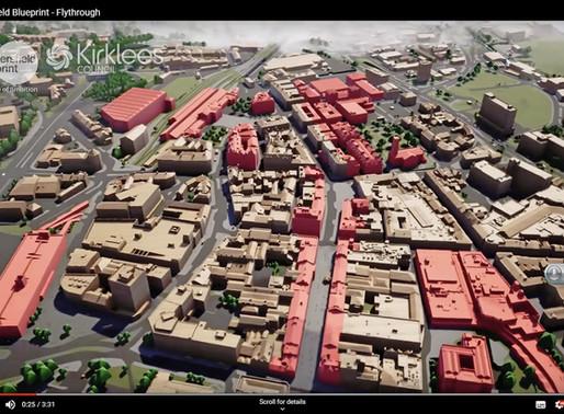 Bluesky 3D Model Helps AECOM Create Blueprint for Huddersfield Town Centre Redevelopment