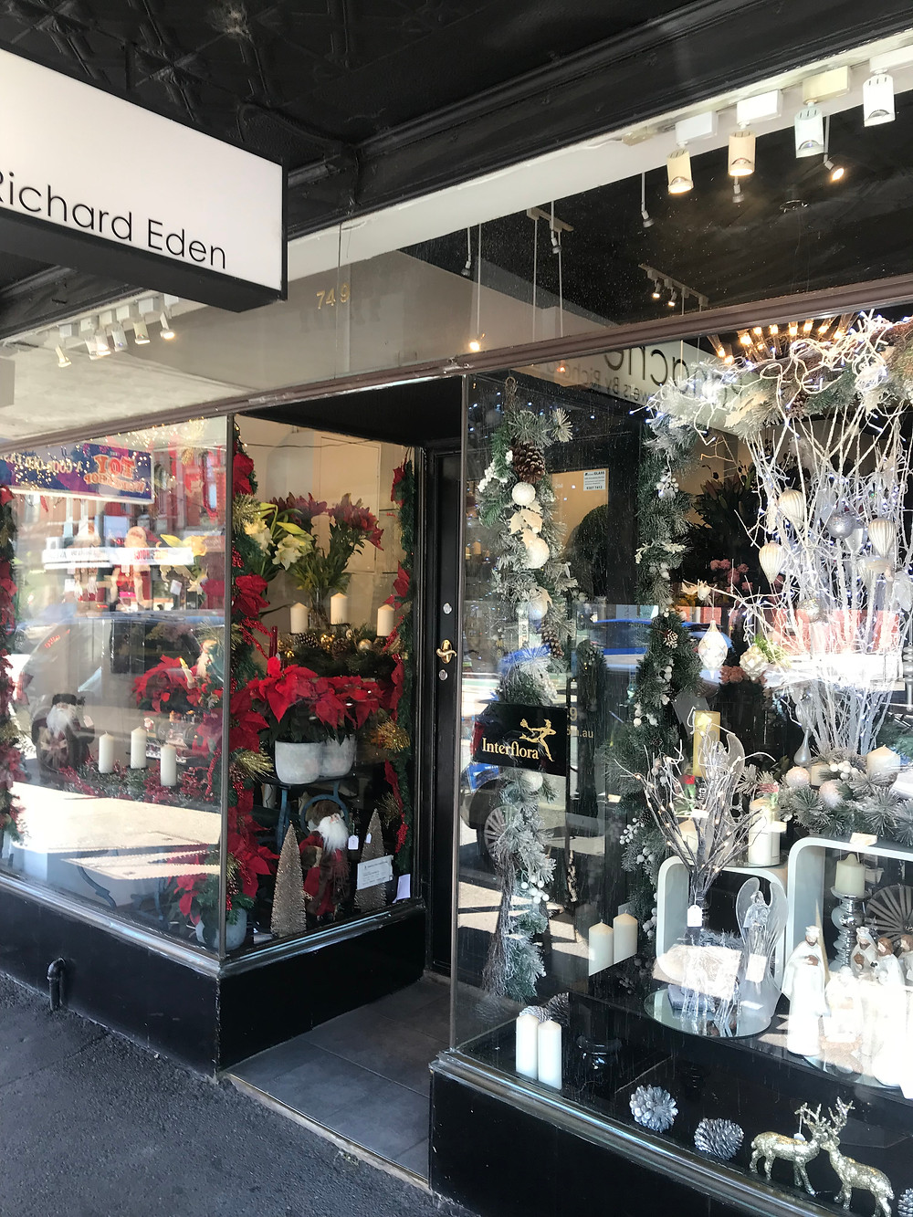 A decorated shopfront front Panache Flowers, Glenferrie Road
