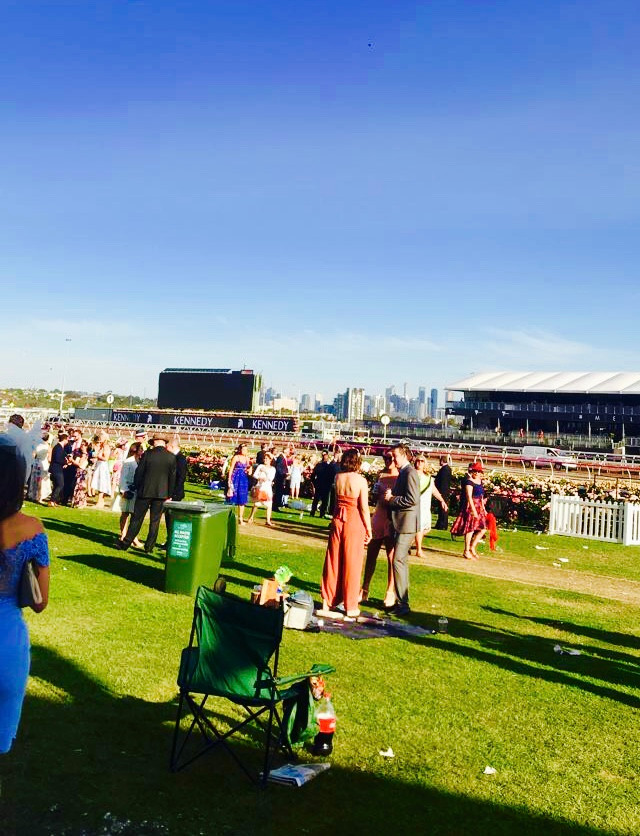 A sunny day at Kennedy Oak's Day at Flemington Racecourse.