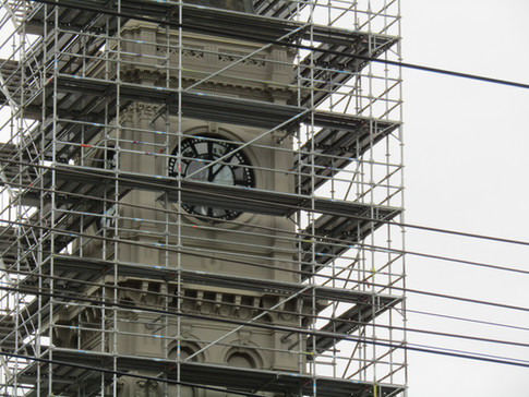 Refurbishments of the Hawthorn Arts Centre clock tower April 2020