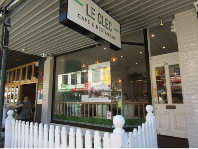 Le Clec Cafe and Restaurant.
