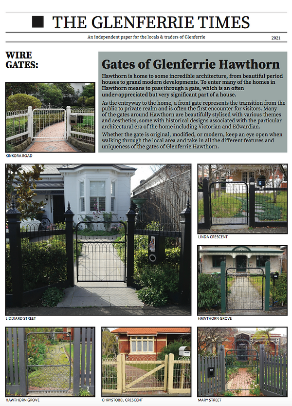 Gates of Glenferrie Hawthorn first page