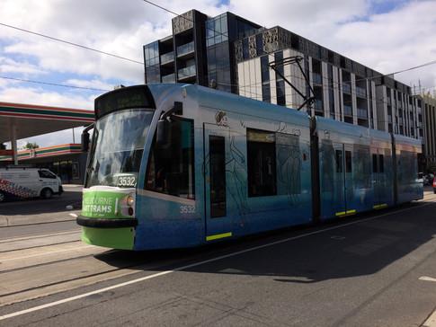 Art Tram heading North of Glenferrie Road