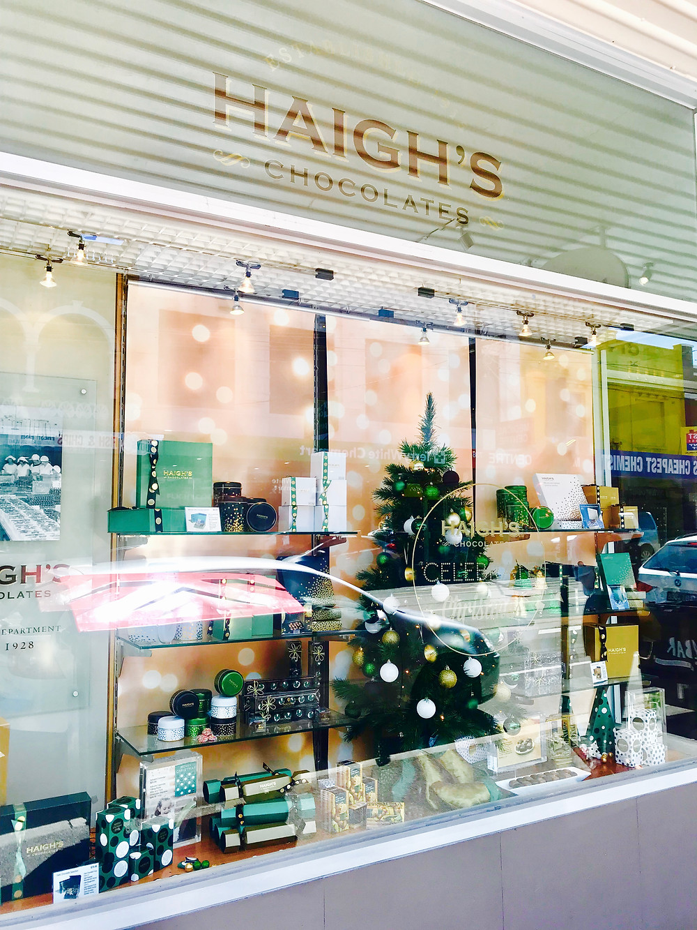 Haigh's Chocolate Shopfront Window