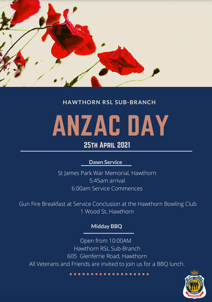 ANZAC Day with the Hawthorn RSL