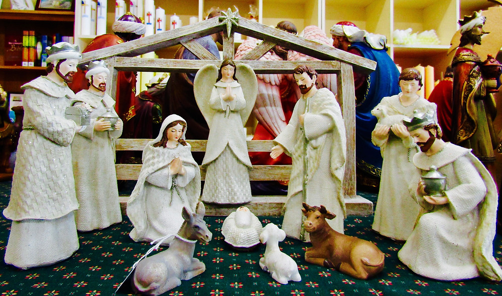 One of the many Nativity Sets on display at SCCS.