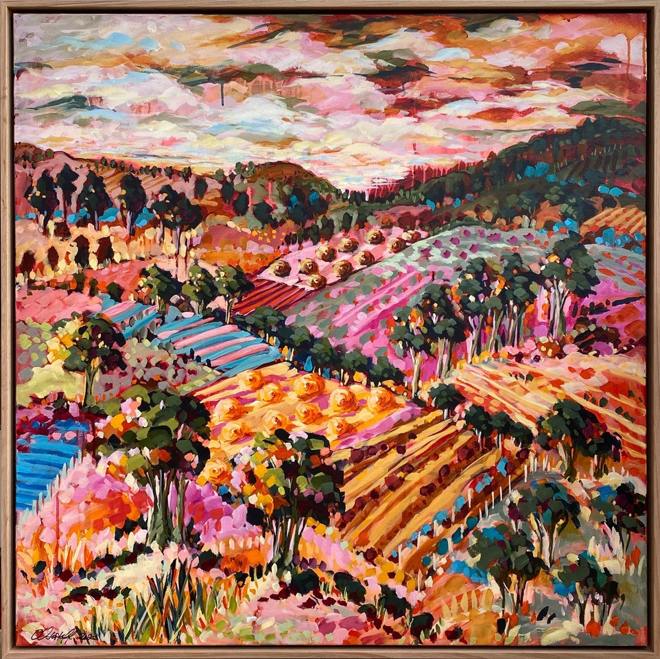 Cathy Ustaoff 'Late Harvest - Red Hill' from August gallery