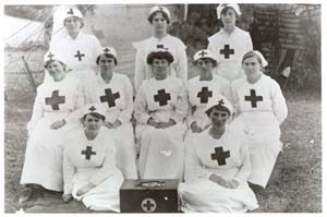 The First Hawthorn Girl Guides Troupe, circa 1915. Source: Hawthorn Library