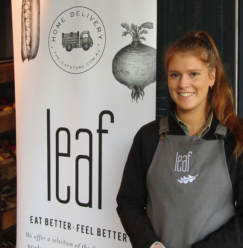 Lucy from The Leaf Store, 728 Glenferrie Road.