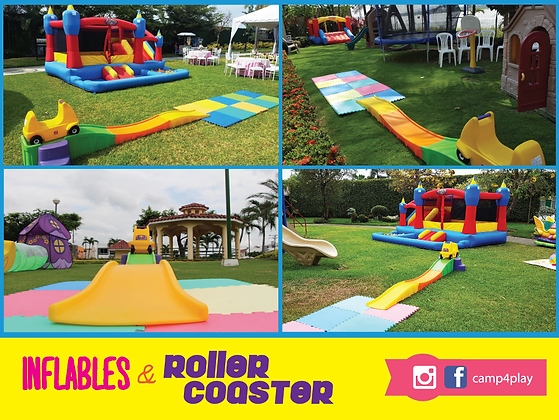Inflable Mediano & Roller Coaster