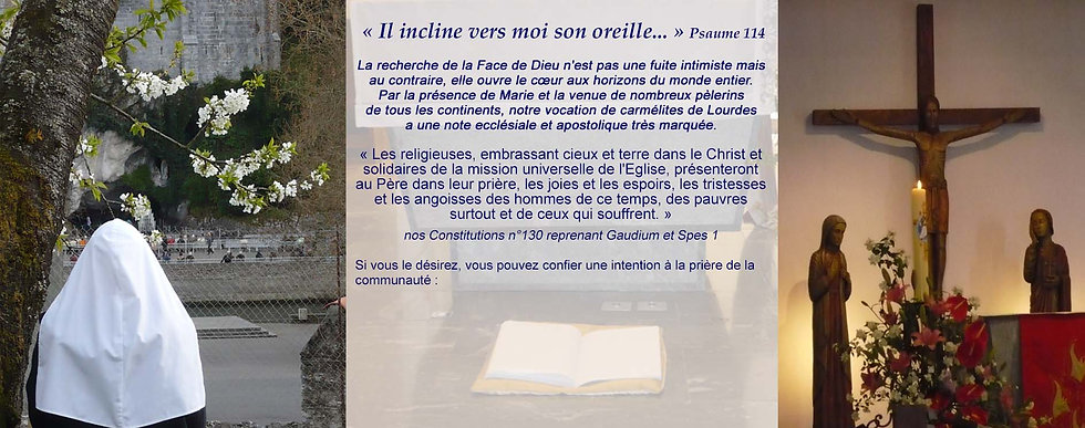 Carmel de Lourdes - Intention