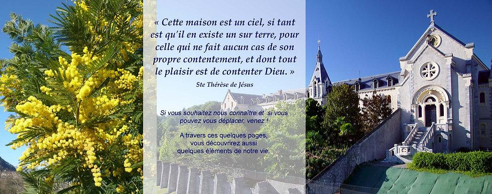 Carmel de Lourdes - Accueil