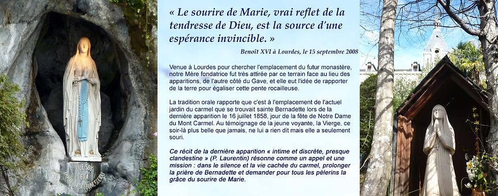 Carmel de Lourdes - Emplacement