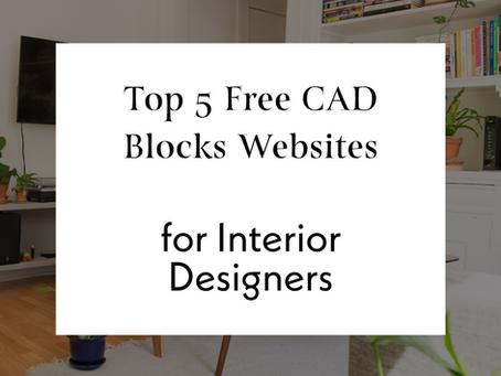 Top 5 Free CAD Blocks Websites For Interior Designers