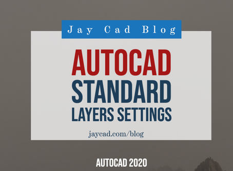 Autocad Layers | Standard Layers Settings