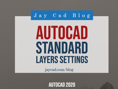Autocad Layers | Standard Layers Settings