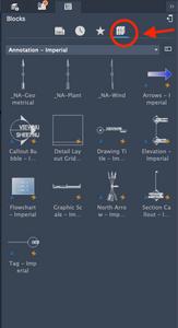 Autocad LT - Mac Screenshot | Blocks Tab - Libraries Icon
