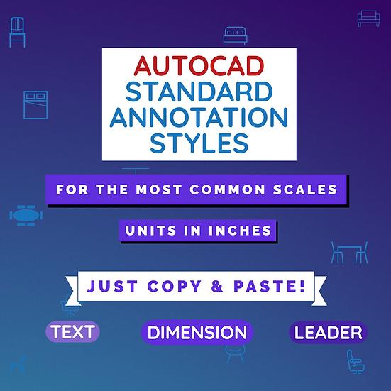 Autocad Standard Annotation Styles