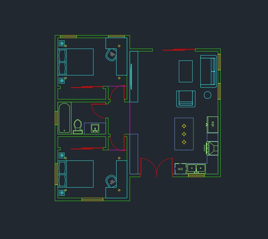 Autocad Layers Tutorial - A screenshot of proper layers setup