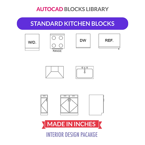 Autocad Standard Kitchen Blocks