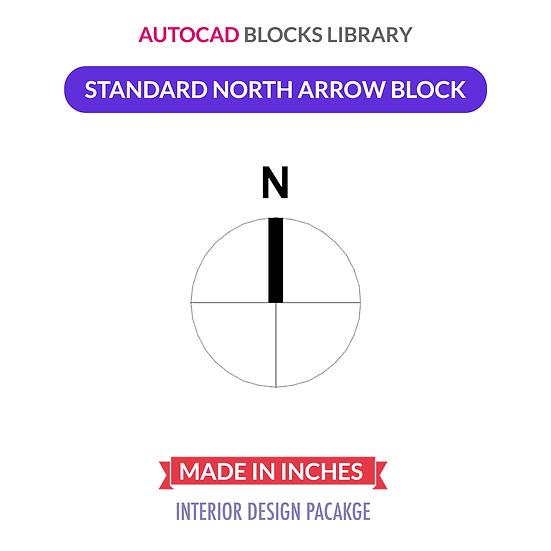 Autocad North Arrow Block