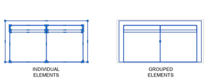 Individual elements vs grouped elements in Autocad