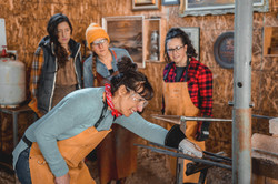 Women Blacksmithing