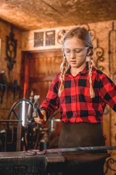 Blacksmithing kids