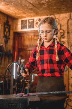 Blacksmithing kids