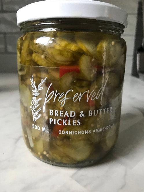 Bread & Butter Pickles - Preserved