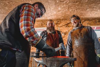 Men Blacksmithing