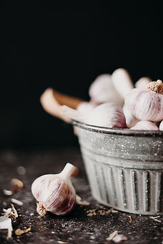Forage and Farm Garlic in Bowl