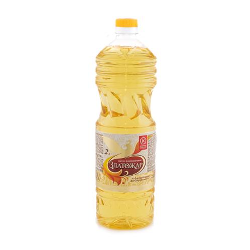 """Масло подсолнечное """"Златожар"""" 2л"""