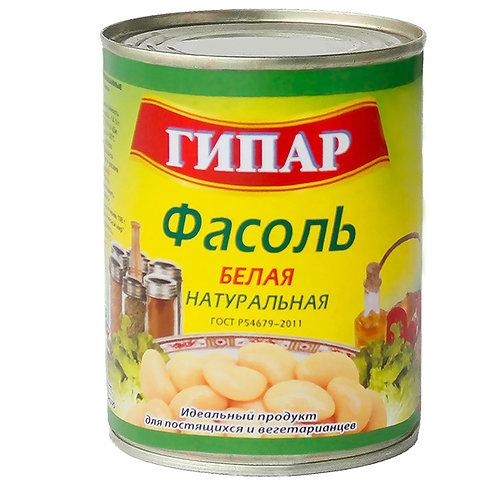 """Фасоль белая натуральная """"Гипар"""" 420г"""