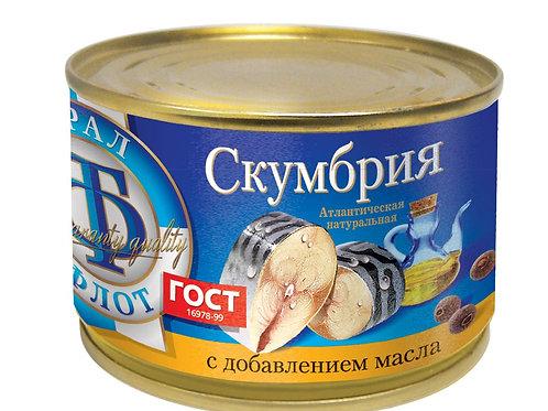 """Скумбрия """"ТралФлот"""" 240г"""