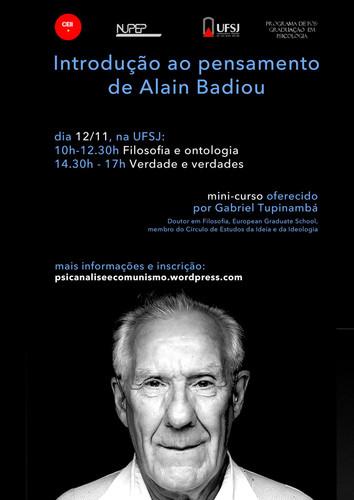 Introdução ao Pensamento de Alain Badiou (UFSJ, 2015)