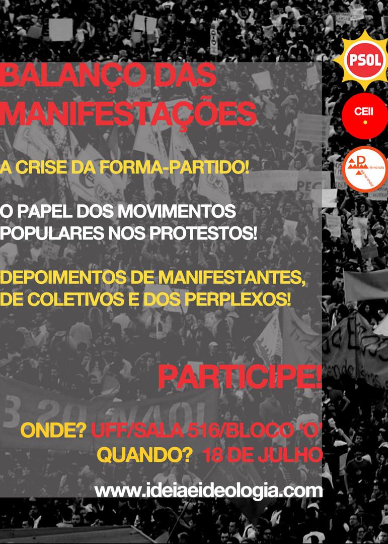 Balanço das Manifestações (UFF, 2013)