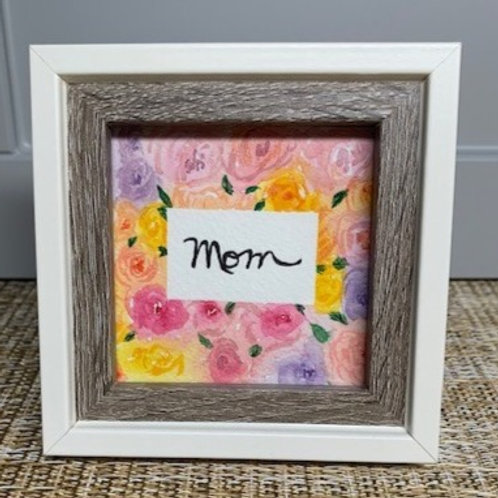 Mother's Day Floral - Framed Original Watercolor Painting