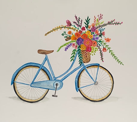 bicycle with large flower basket - Copy.