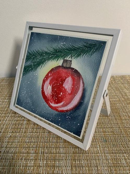 ORIGINAL Watercolor Framed Painting - Ornament