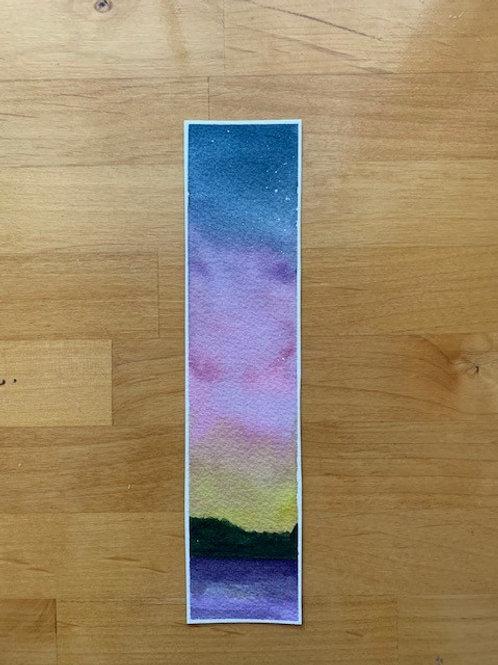 ORIGINAL Watercolor Bookmark - Sunset - NOT A PRINT