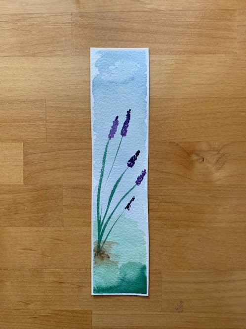 ORIGINAL Watercolor Bookmark - Lavender - NOT A PRINT