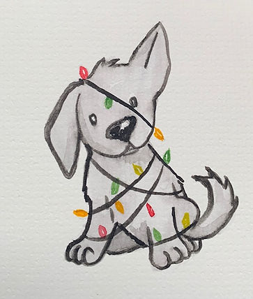 puppy wrapped in lights.jpg