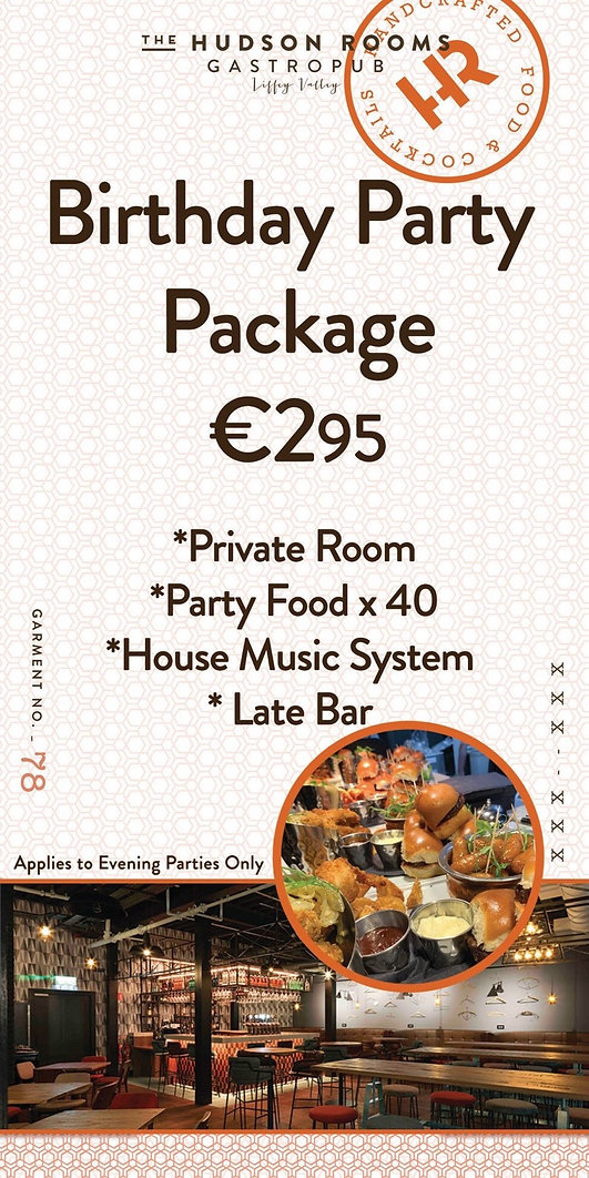 HUdson Rooms Party Offer