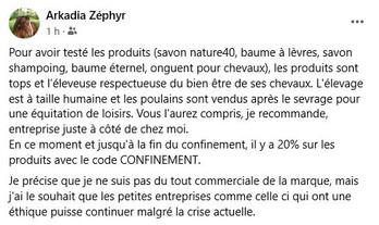 avis clients sur les cosmétiques Zofé au lait de jument