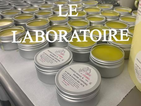 le laboratoire de production de cosmétiques