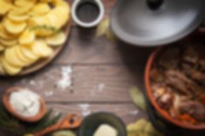 Homemade Lancashire hotpot - a stew  con
