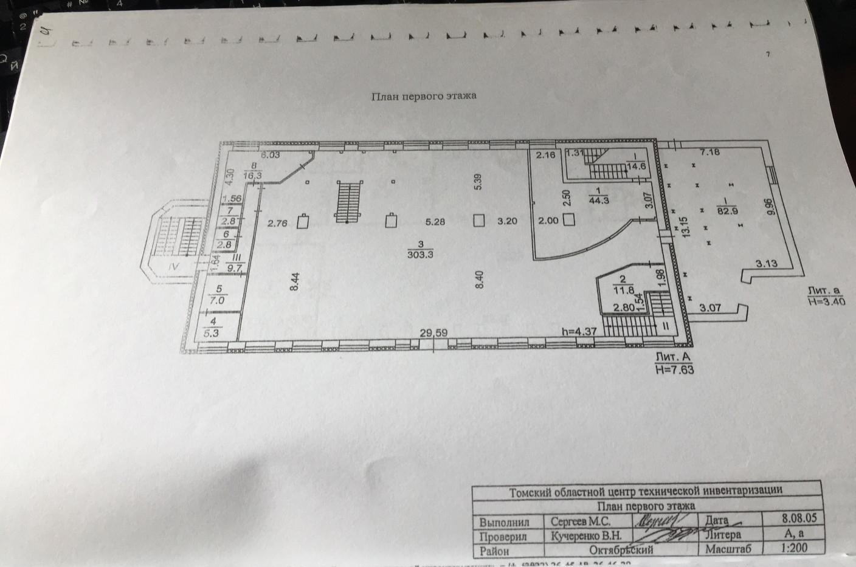 Продажа помещения 1413 м2 Томск