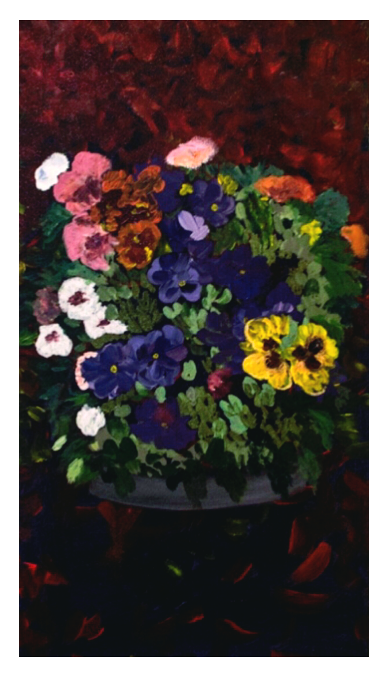 Flowers in the Dark 15 x 30